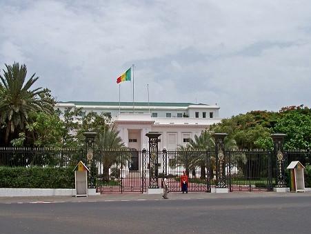 Le Palais Présidentiel à Dakar plateau