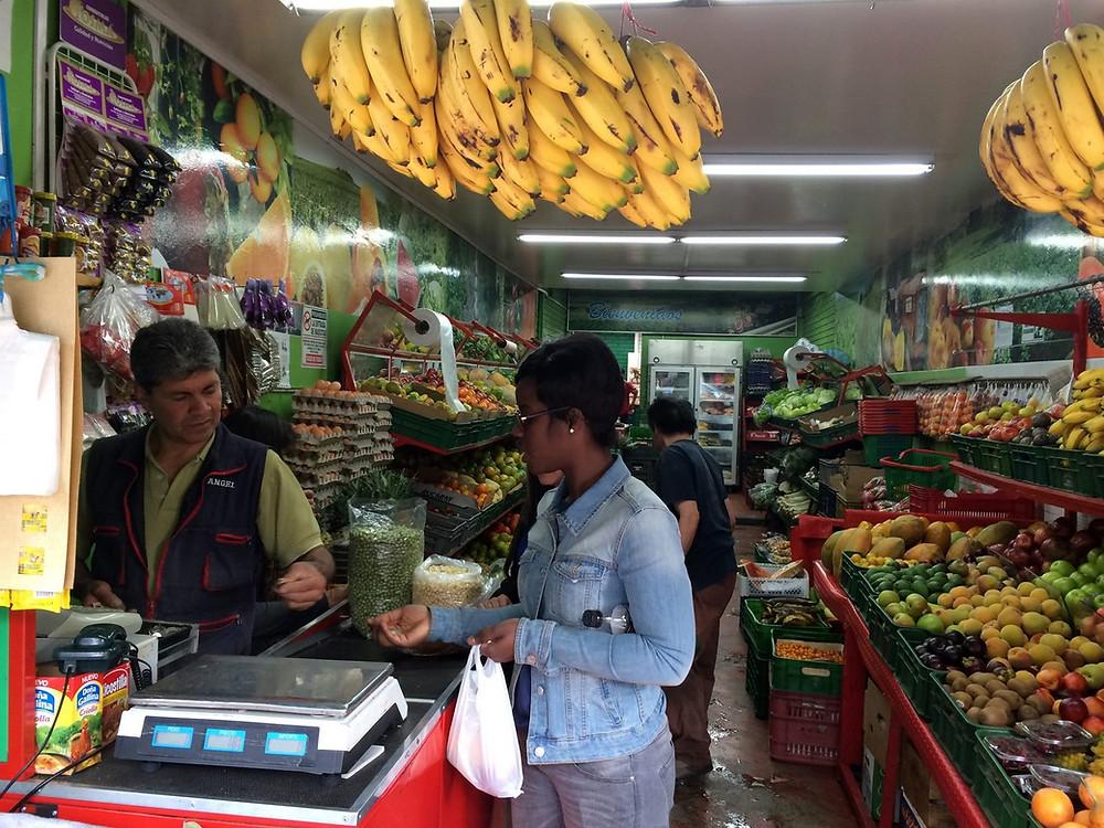 Un grand choix de fruits à Bogotà