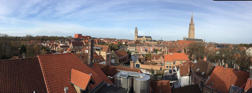 La vue depuis les toits de la brasserie De Halve Maan