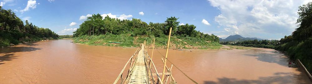 Pont en bambous Luang Prabang