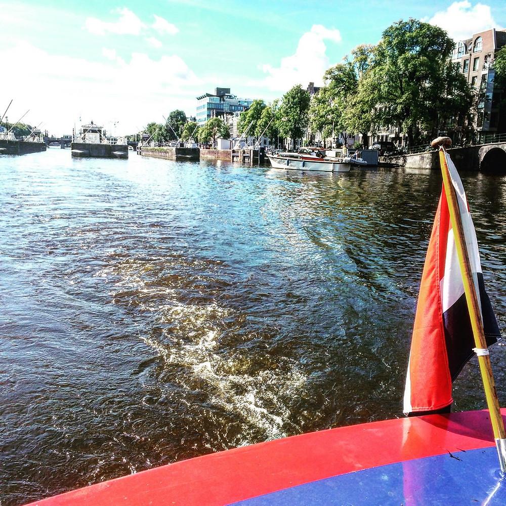 Visite bateau canaux Amsterdam