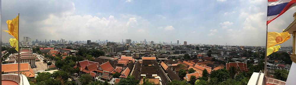 La vue depuis Wat Saket