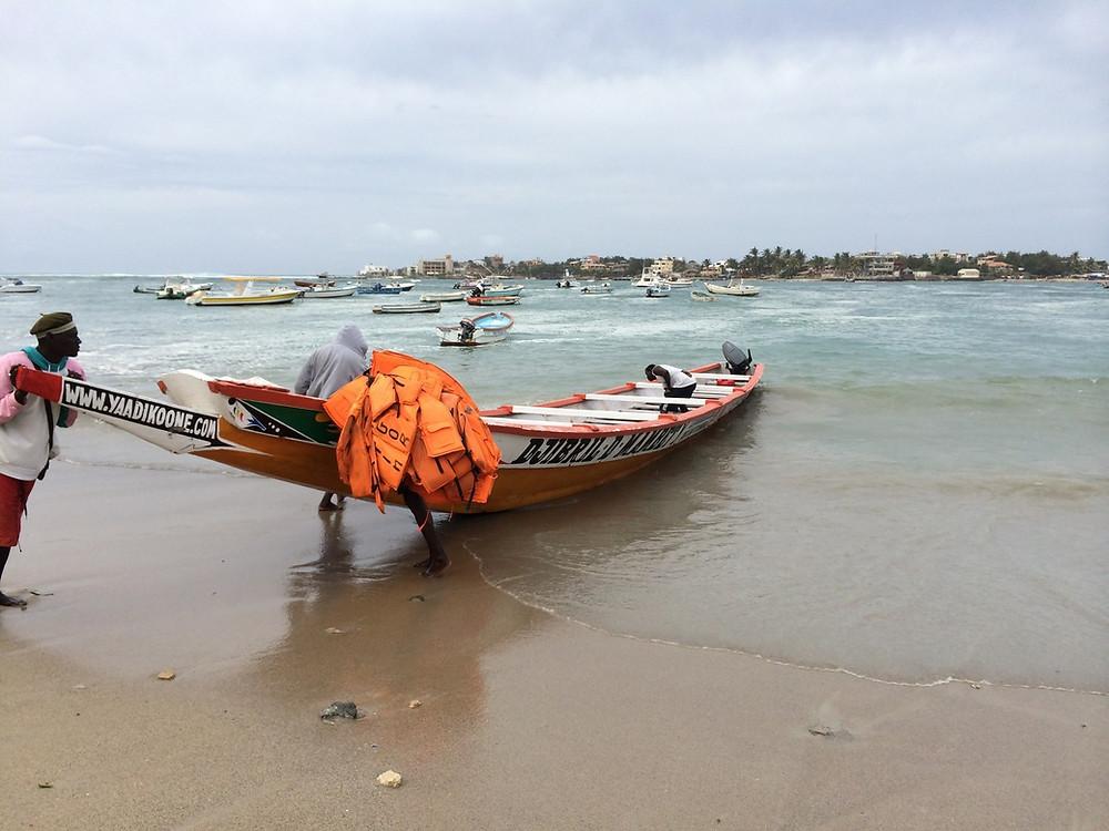 Départ pour l'île de Ngor