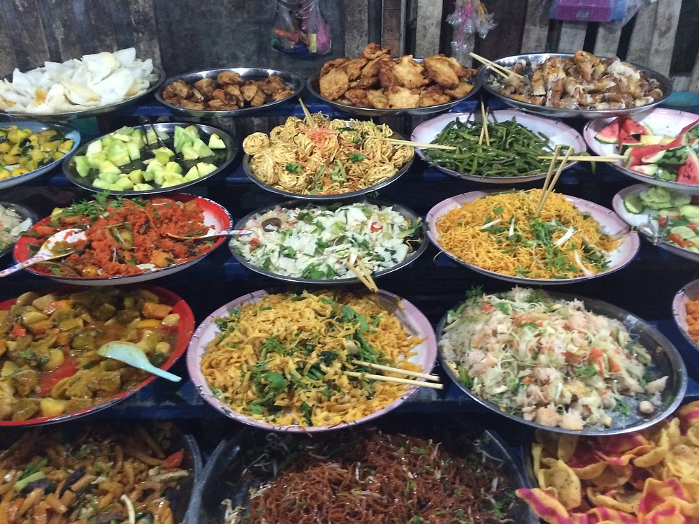 Street food night market Luang Prabang