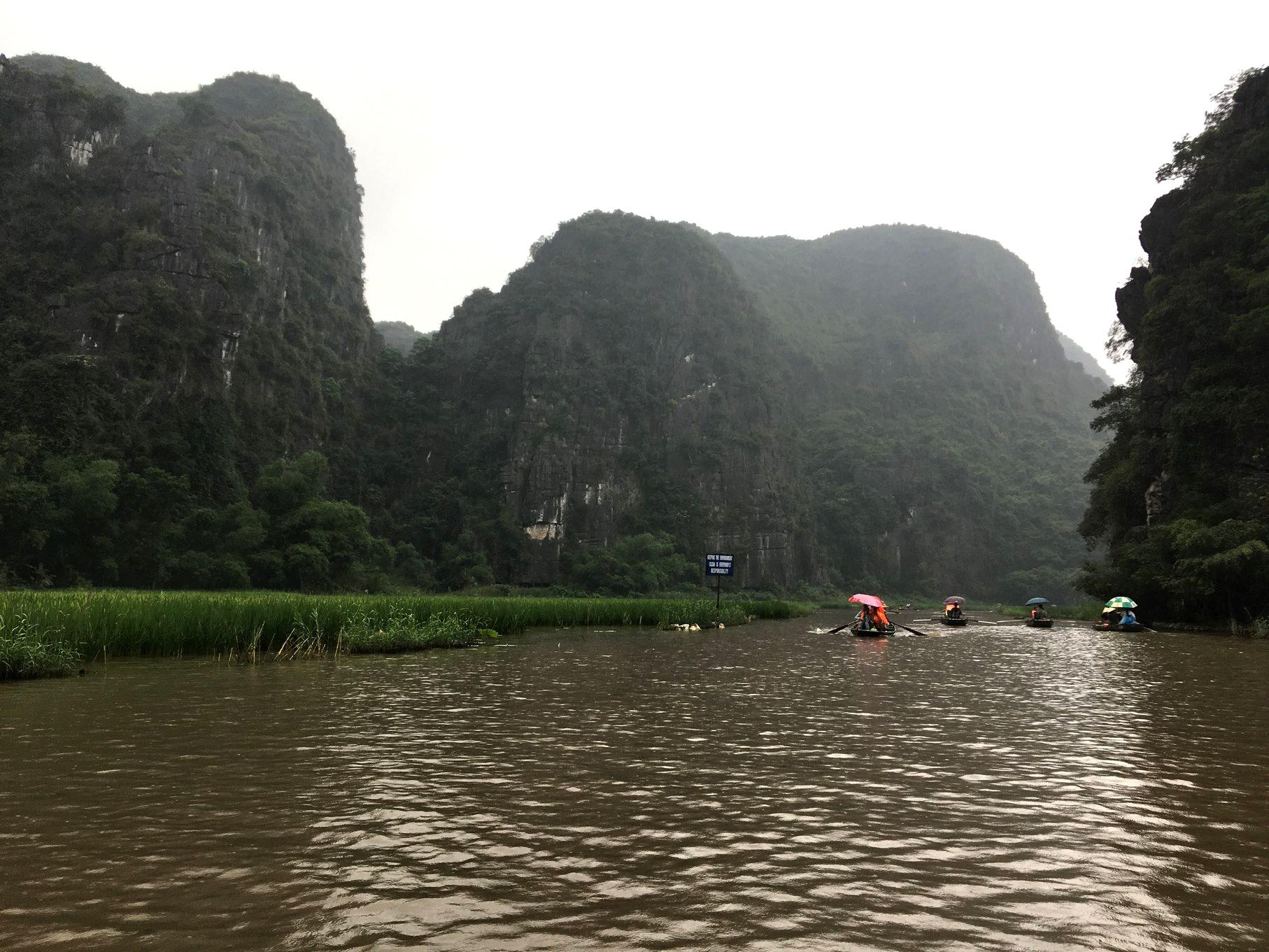 Ballade en barque à Tam Coc - Vietnam