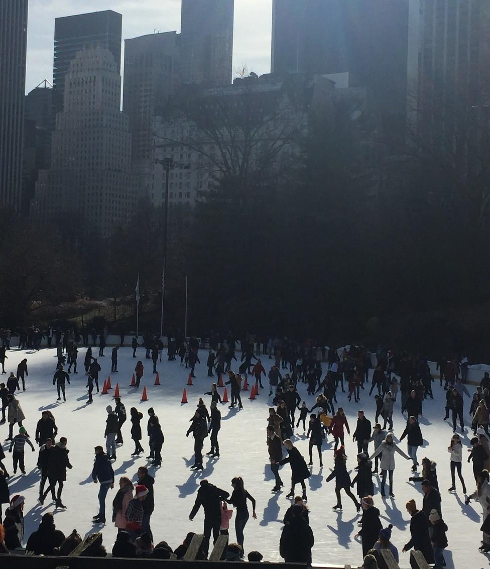 La patinoire de Central Park