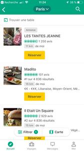 Tripadvisor vous affiche la liste des restaurants