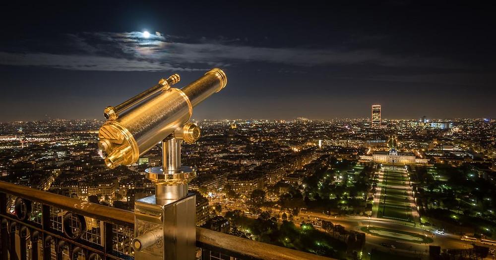 La vue depuis le 2ème étage de la Tour Eiffel