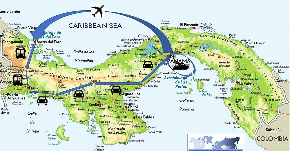 Notre itinéraire au Panama