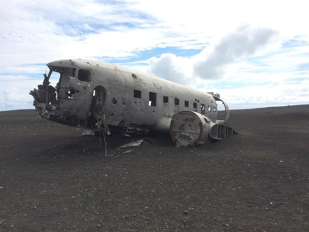 DC3 perdu sur la plage en Islande