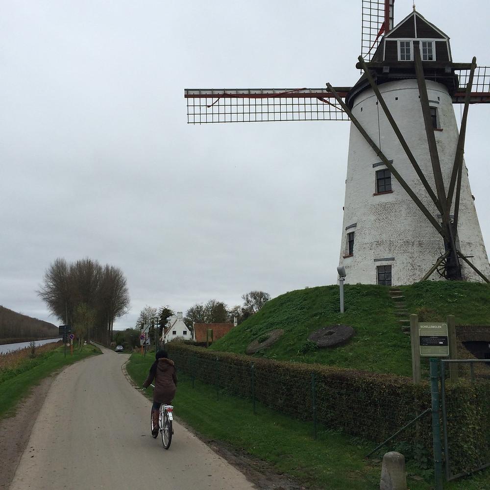 A bicyclette à Damme