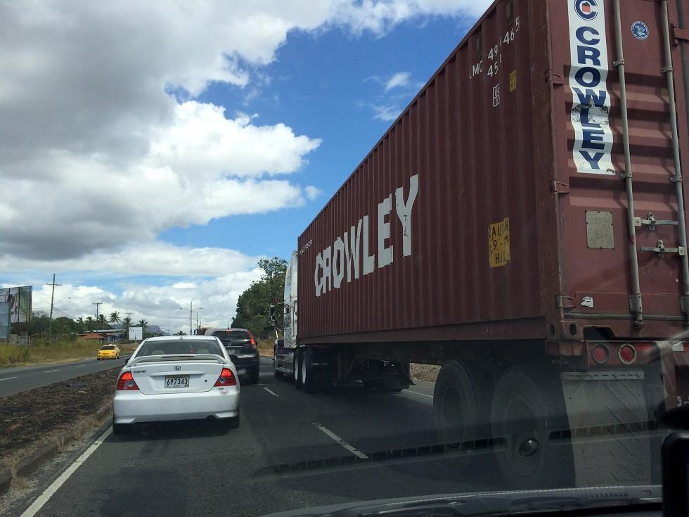 Le trafic de la Panaméricaine