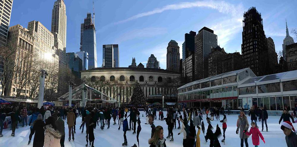 La patinoire de Bryant Park