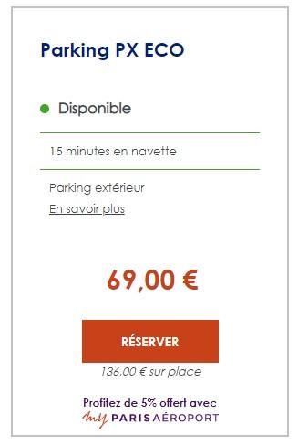 économies réservation parking aéroport