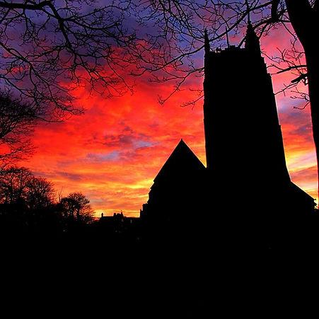 winter sunrise st annes parish  church.j