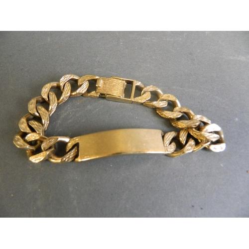 9ct Gold Gentleman's Bracelet