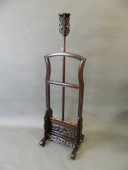 A Chinese hardwood standard lamp