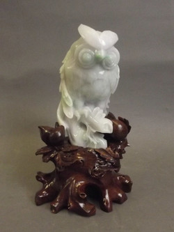 Chinese Mottled Jade Owl