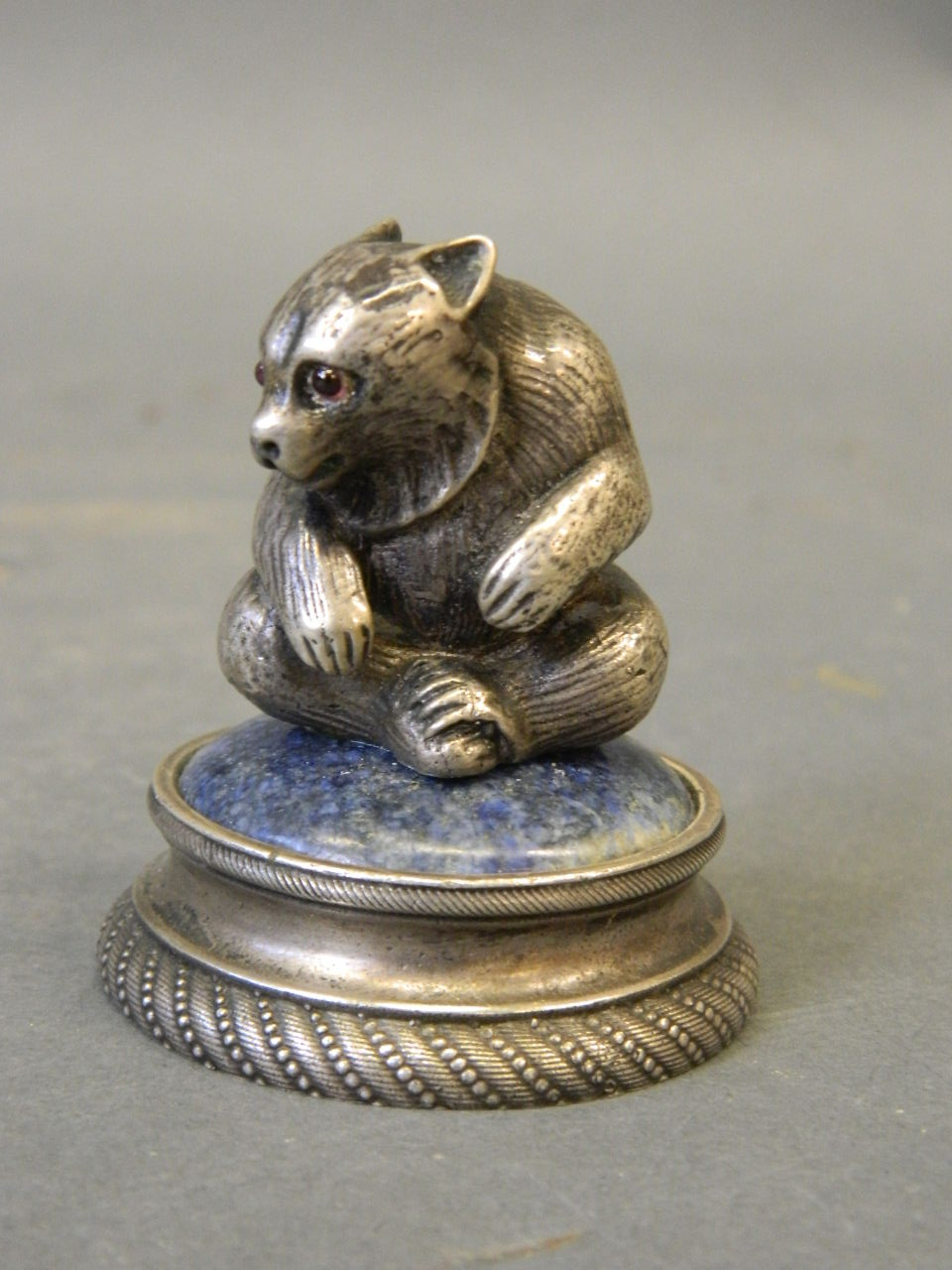 Silver Miniature Figure of Bear