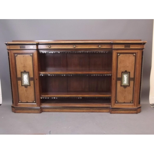 Victorian Breakfront Walnut Bookcase