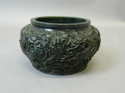 Chinese Mottled Spinach Jade Bowl