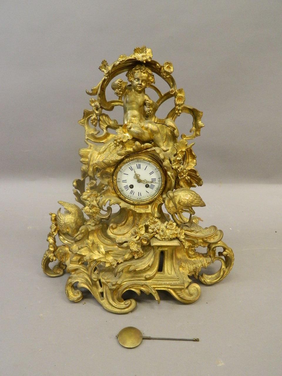 Bronze Mantle Clock