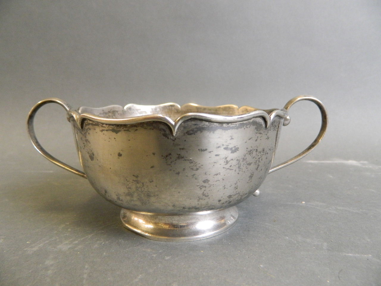 A Chinese silver loving cup