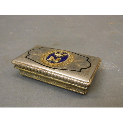 Silver Plated Gilt Card Case