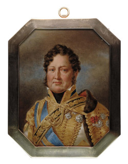 Andre Leon Larue 'Mansion' (French, 1785-1834), a portrait miniature of 'King Louis-Philippe I'