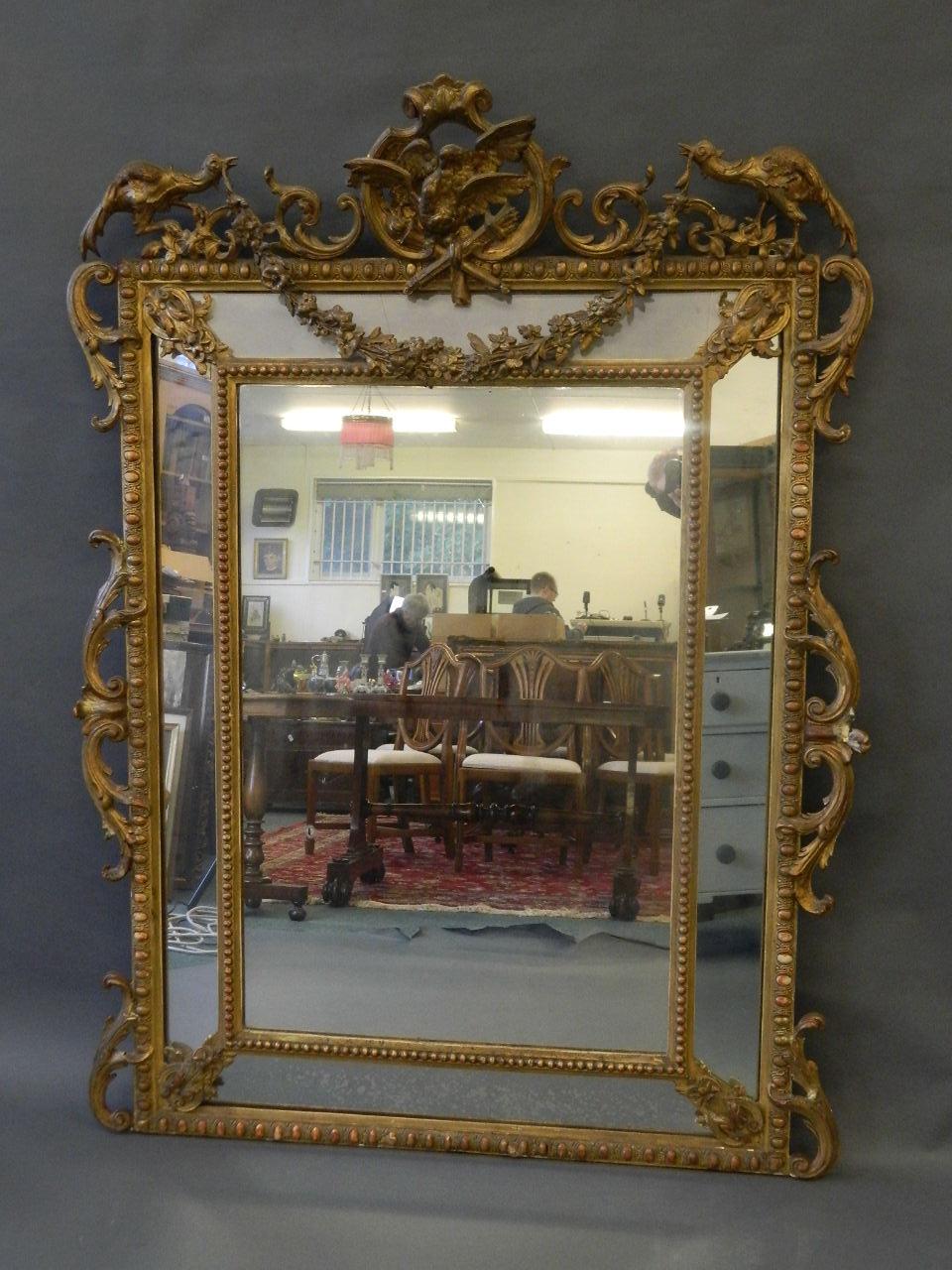 C19 French Giltwood Mirror