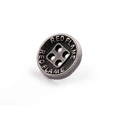 Metal four hole button