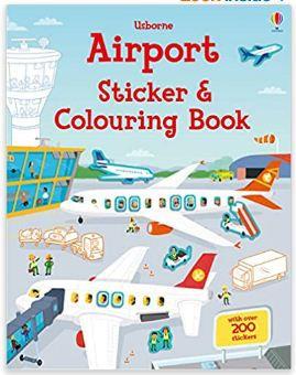 Airport Sticker and Colouring Book (Usborne)