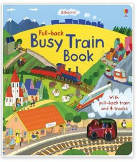 Pull-back Busy Train Bookl  (Usborne)
