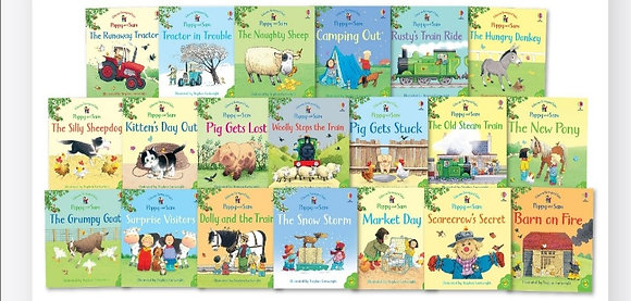Poppy and Sam Farmyard Tales set da 20 libri Sam Taplin (Usborne)