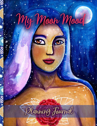 My Moon Mood Journal Planner Cover psd f