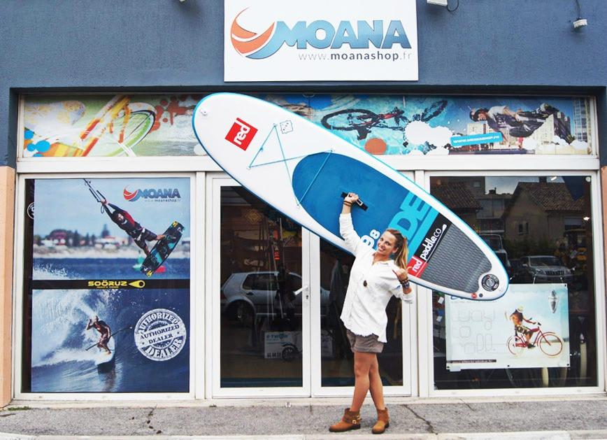 Moana Shop - Red Paddle - Destination Camping-car