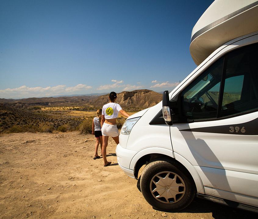 Nous avons emmené notre camping-car sur les hauteurs du désert