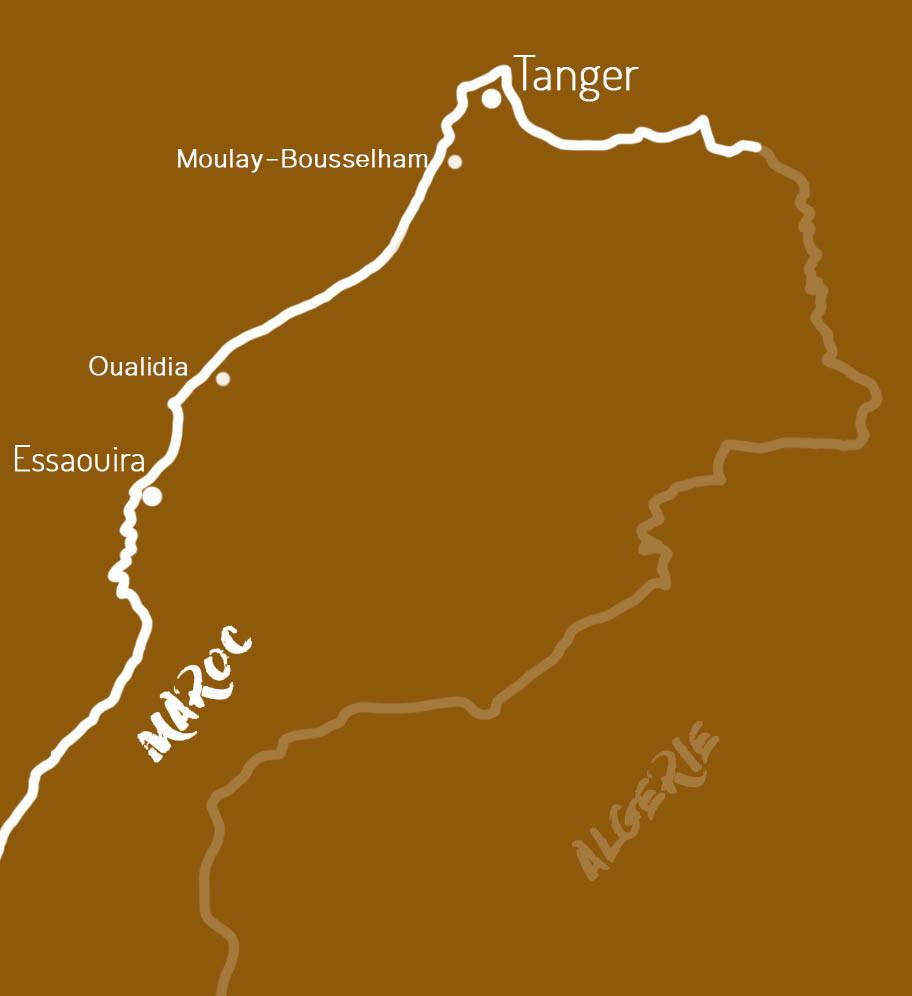 Carte voyage Maroc étape 3