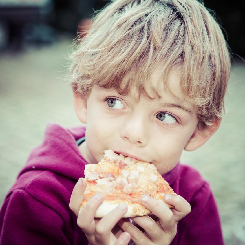 Timothé adore les pizza...