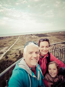 au sommet du phare de Lyngvig Fyr