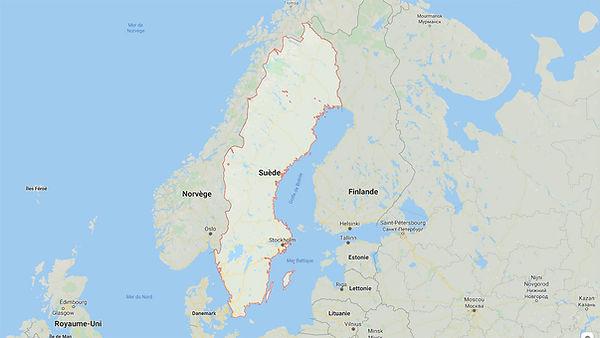 Carte de Suède