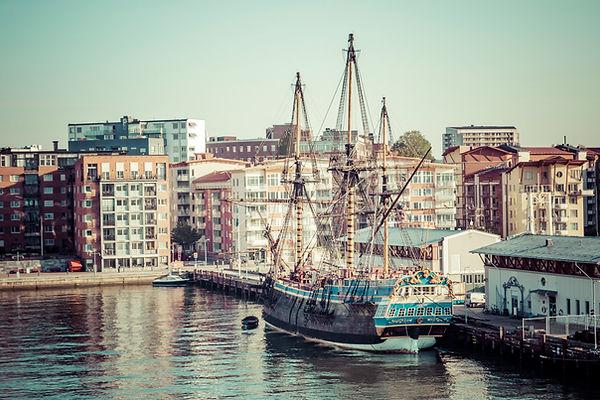 Goëlette dans le port de Goteborg