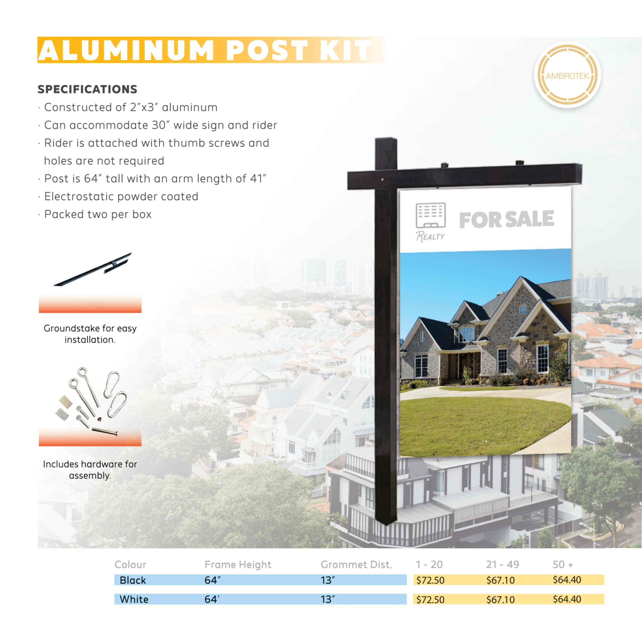 Aluminum Post Kit