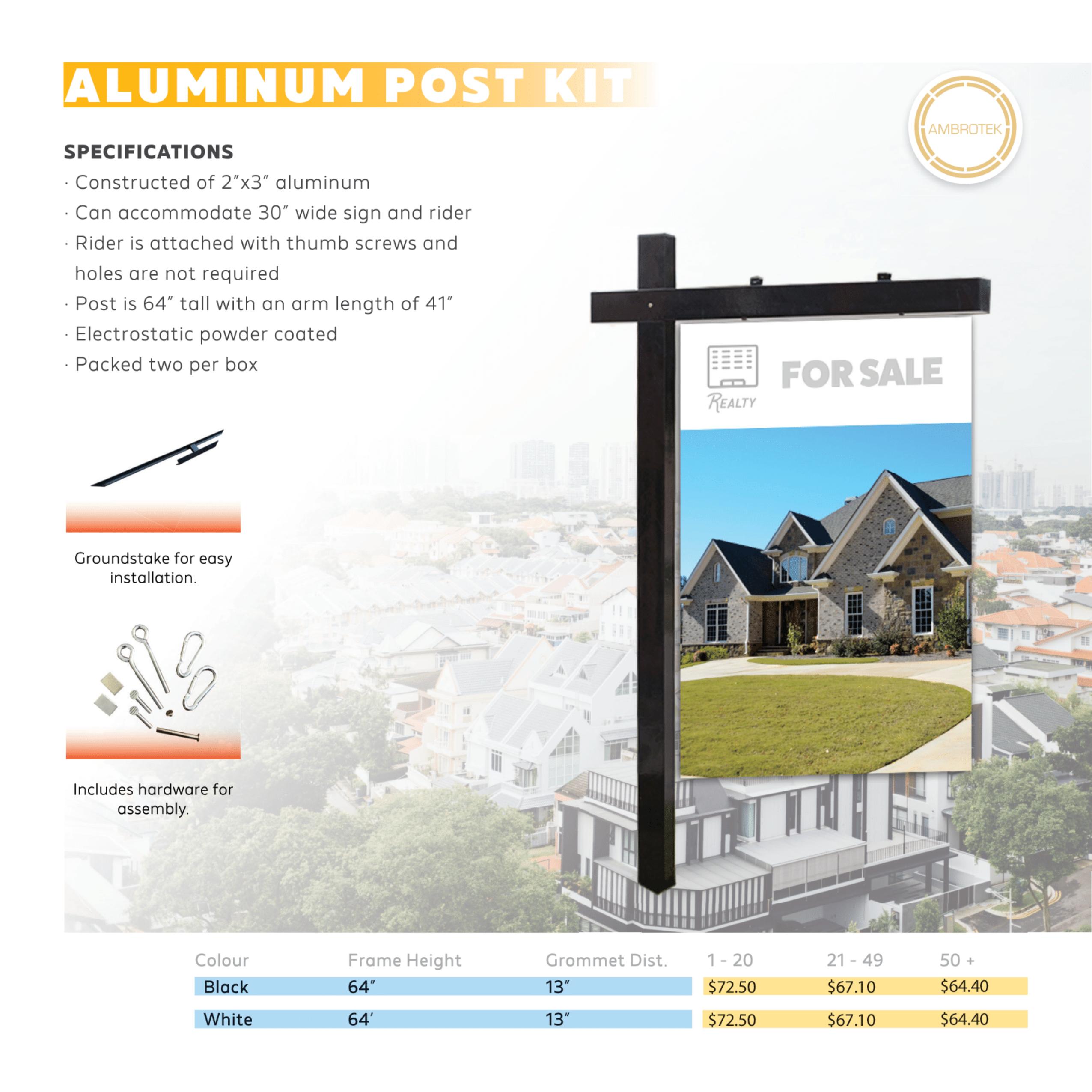 Aluminum Post Kit