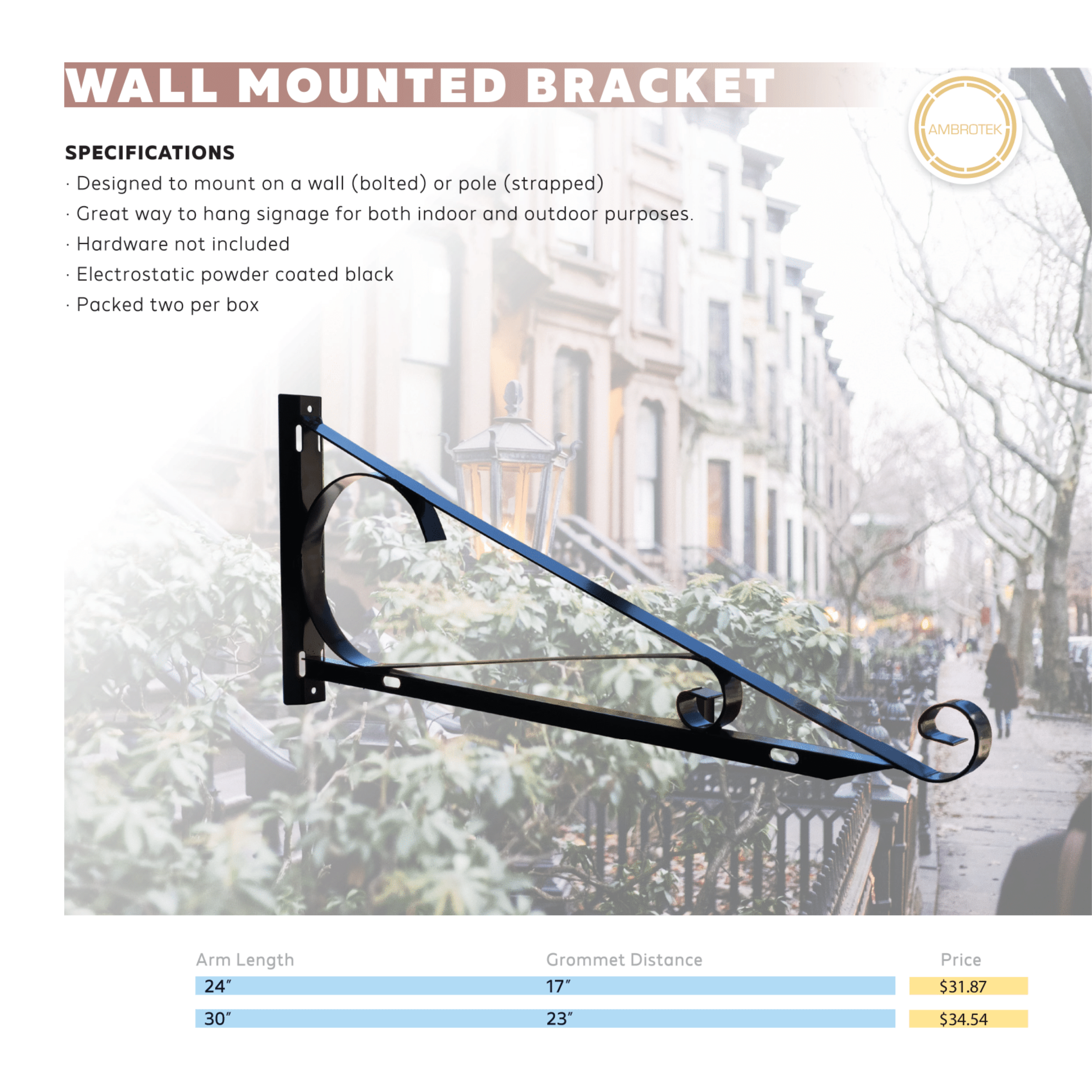 Wall Mounted Brackets