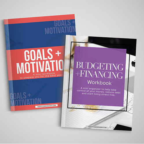 2 for 1: Goals + Motivation and Budgeting + Financing Workbooks