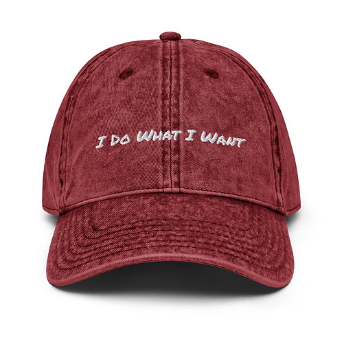 'What I Want' Vintage Cap