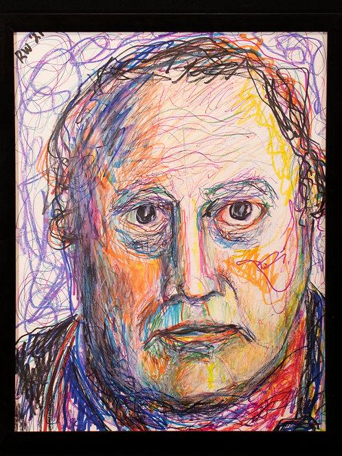 Scratchy Self-Portrait