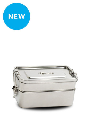 1.2 Litre Stainless Steel Lunch Box - Double Stacker fra Cheeki