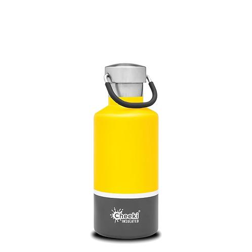 Cheeki INSULATED drikkeflaske Sunshine Grey 400ml